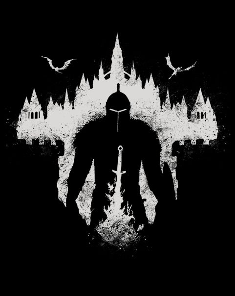 Dark Souls clipart black and white #1