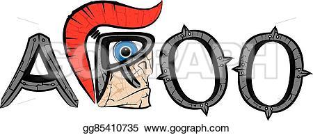 Warrior clipart centurion Spartan warrior aroo EPS centurion