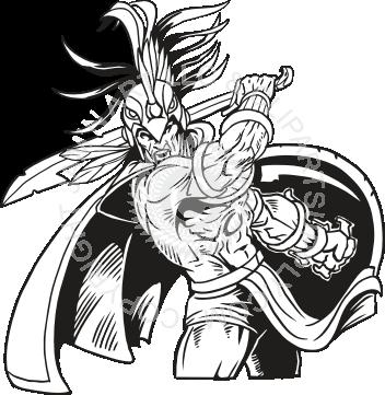 Aztec Warrior clipart black and white Warrior Warrior Aztec Aztec Fighting