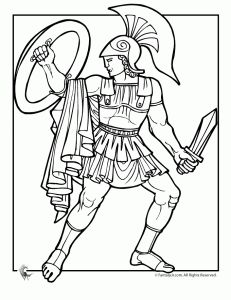 Warrior clipart greek hero Find this best on Coloring