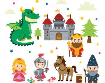 Wizard clipart castle Fantasy Tale Tale Clipart/princess/knight/dragon/wizard/king/castle Fairy
