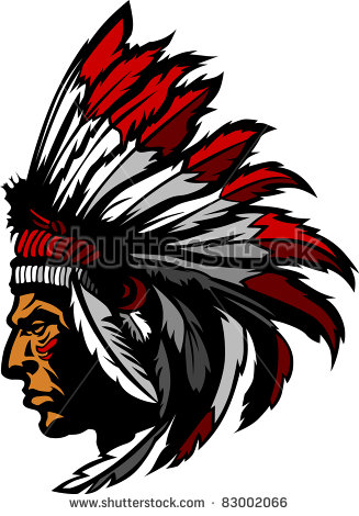 Chief clipart indian mascot Football red collection American Indian