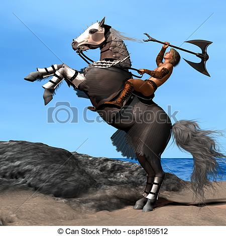 Warrior clipart war horse Horse  01 War Art