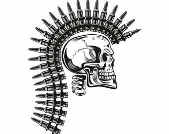 Mohawk clipart logo Etsy clipart Army Ammo Military
