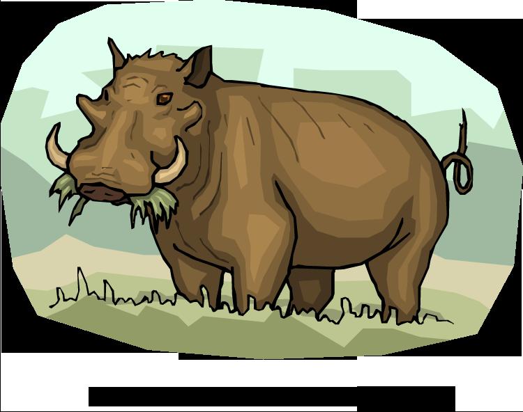 Warthog clipart Clipart Warthog Warthog Hungry Free
