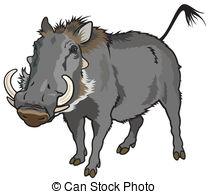 Warthog clipart Warthog art africanus phocochoerus EPS