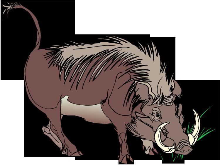 Warthog clipart Clipart Warthog Warthog Tusked Free
