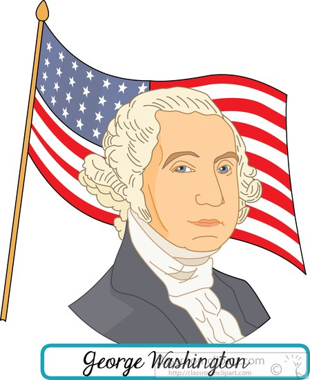 Washington clipart : president flag with washington