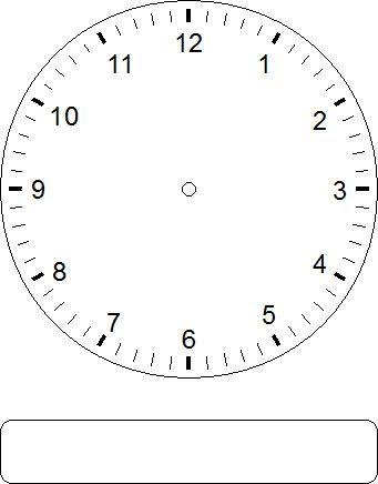 Watch clipart blank Blank clock Clock Blank on