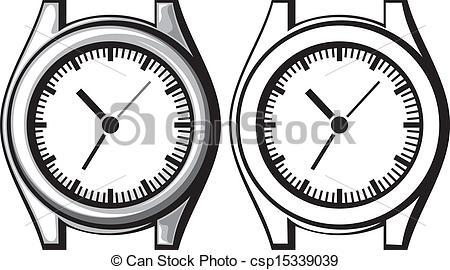 Watch clipart line drawing (wristwatch watch  watch wrist