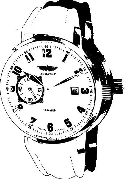 Watch clipart line drawing Clip Wrist art Clker Clip