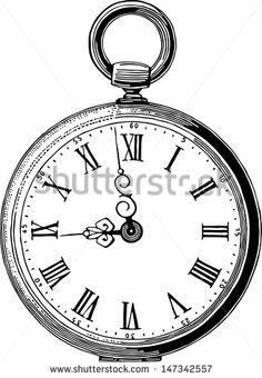 Watch clipart old fashioned Antique  Pocket stock Antique