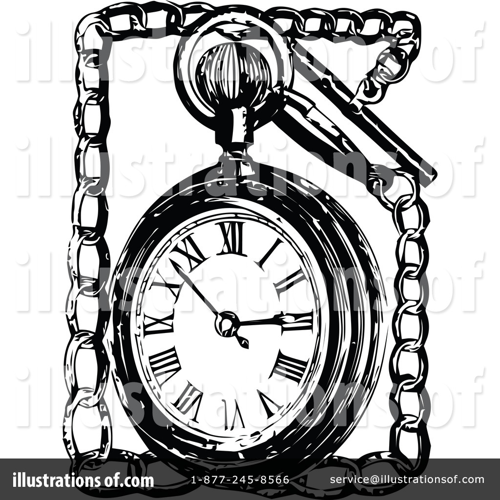 Pocket Watch clipart sketch Watch by Illustration Vintage by