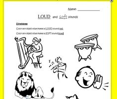 Display clipart soft sound PreK Loud Worksheets Our Identify