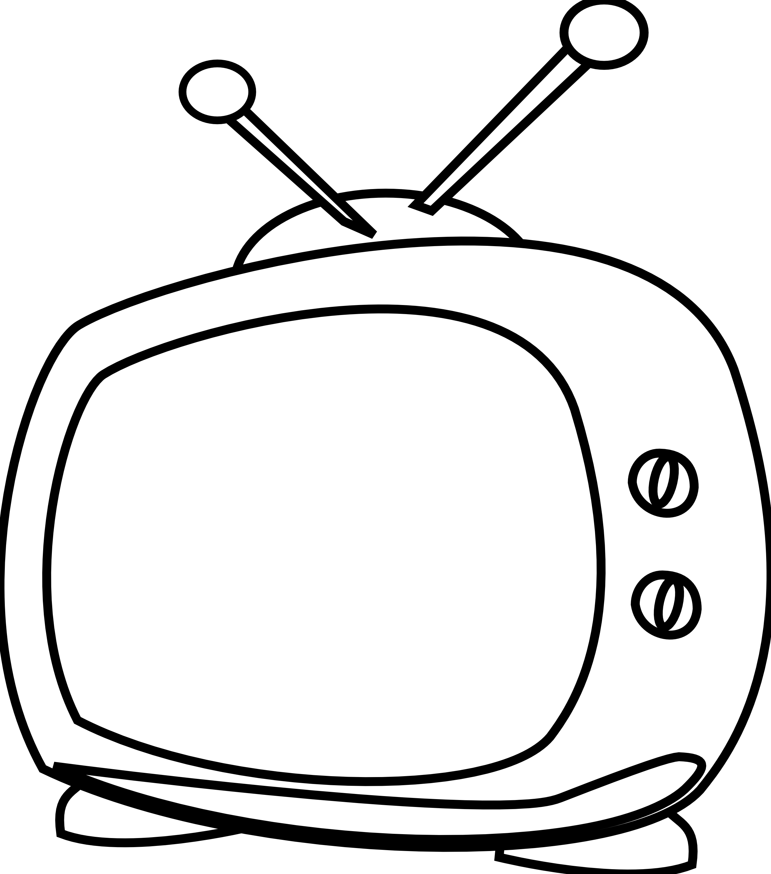 Black & White clipart television Panda Watching White Tv Clipart