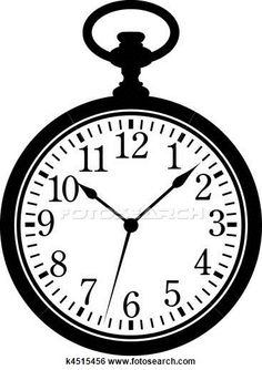 Watch clipart vintage clock Illustrations watch EPS available