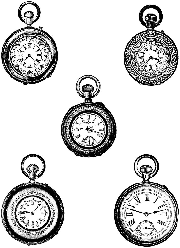 Watch clipart vintage clock On Art Pinterest images Vintage