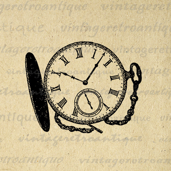 Watch clipart vintage clock Jpg Antique 2916 Png Time