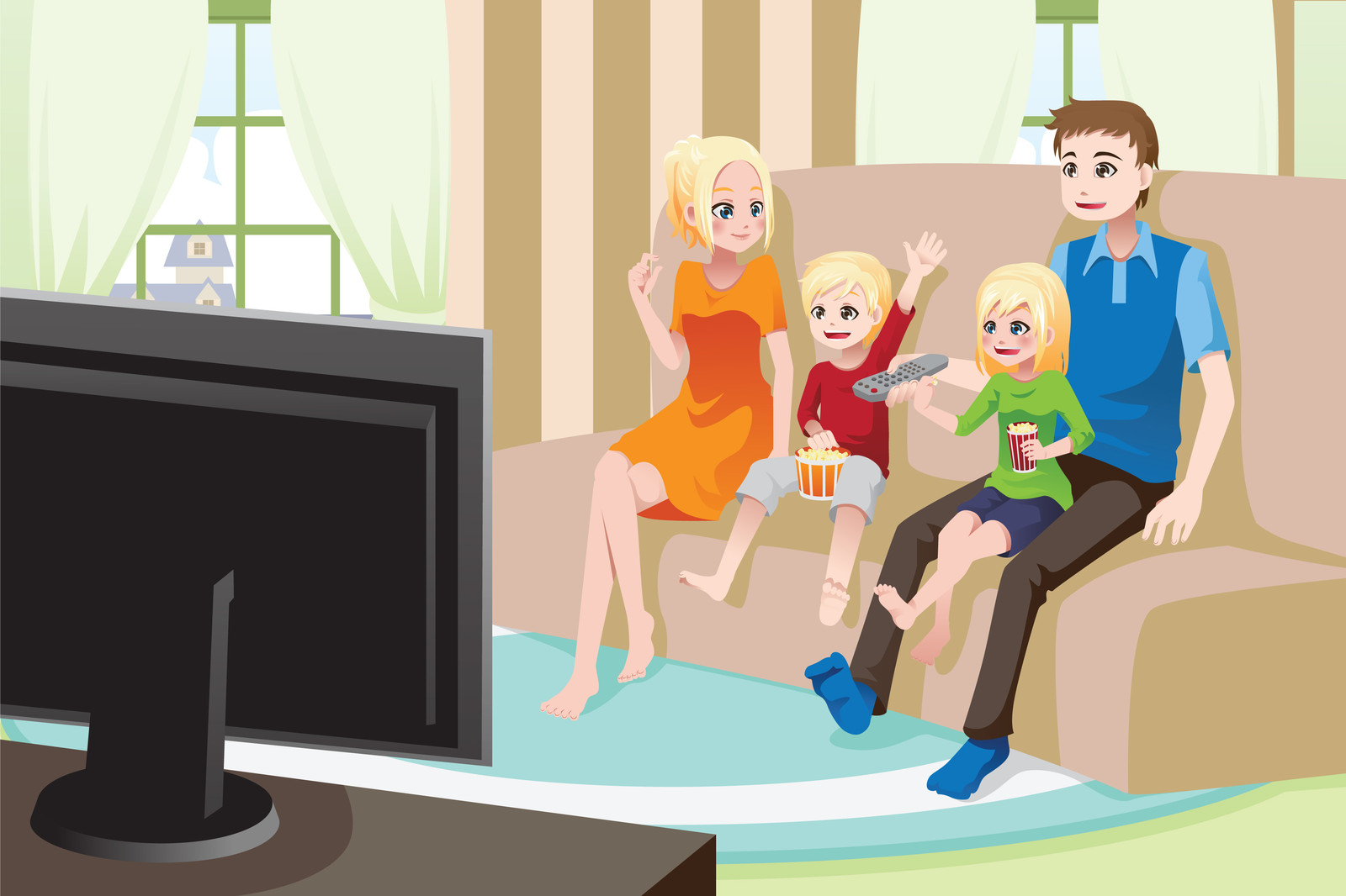 Watch clipart watch television Tv kids Watching 2 television