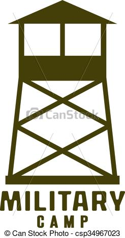 Watchtower clipart Icon of camp camp Watchtower