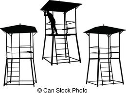 Watchtower clipart Clipart of Watchtower art silhouettes