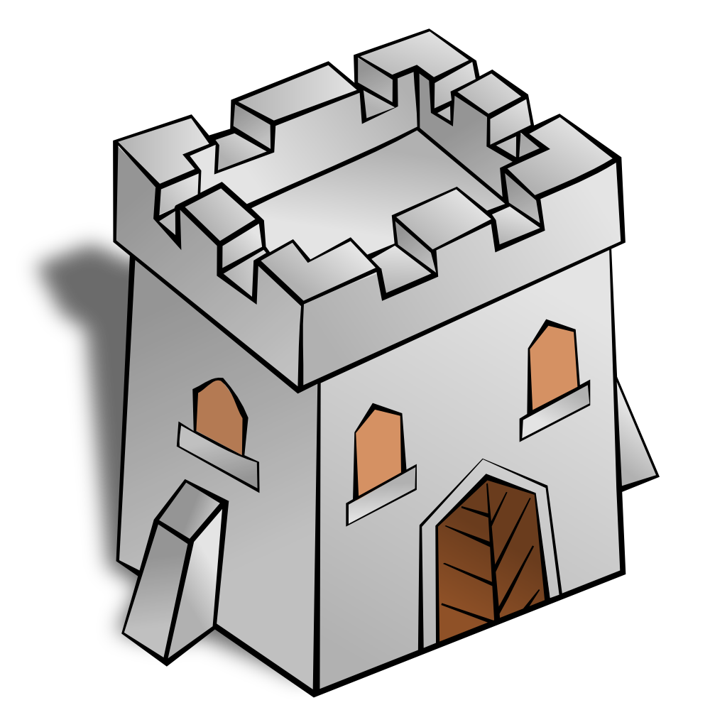 Fort clipart fortress Symbols: Square Watchtower OnlineLabels Art