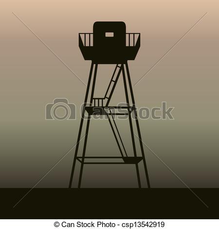 Watchtower clipart Shade Illustration Watchtower Vector csp36417127