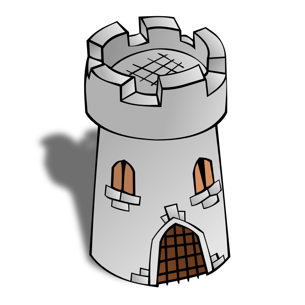 Watchtower clipart OnlineLabels Symbols: Tower Tower Map