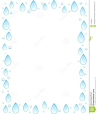 Water Droplets clipart border Borders Free Photography Royalty Border