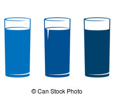 Blue Water clipart glass water Clip Vector  on Graphics