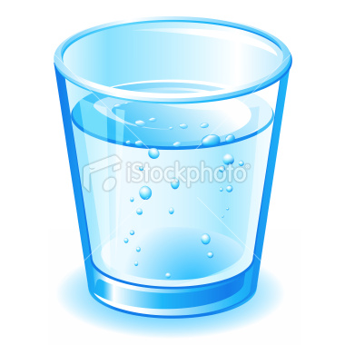 Blue Water clipart glass water Of Glass Water Clipart