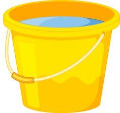 Yellow clipart pail Black White Фотки Bucket Sand