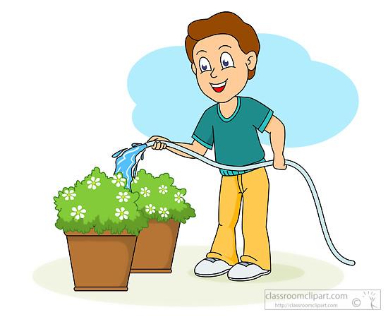 Boy clipart gardening Gardening Graphics Kb Watering Results
