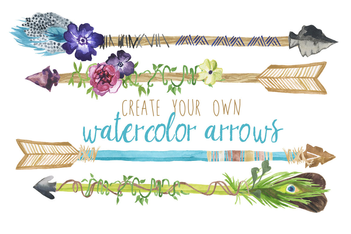 Arrow clipart boho #5