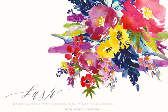 Water Color clipart flowery #14