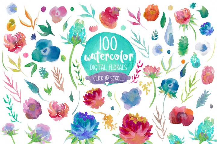 Water Color clipart flowery #8