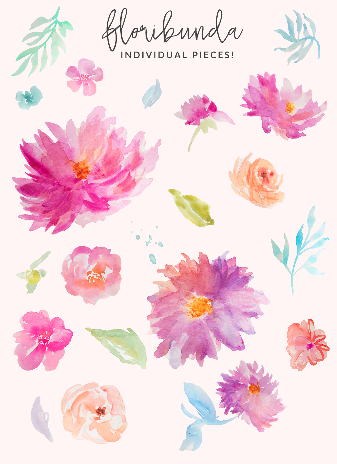Water Color clipart flowery #4