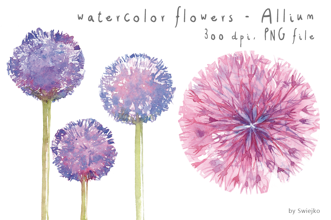 Water Color clipart flowery #7