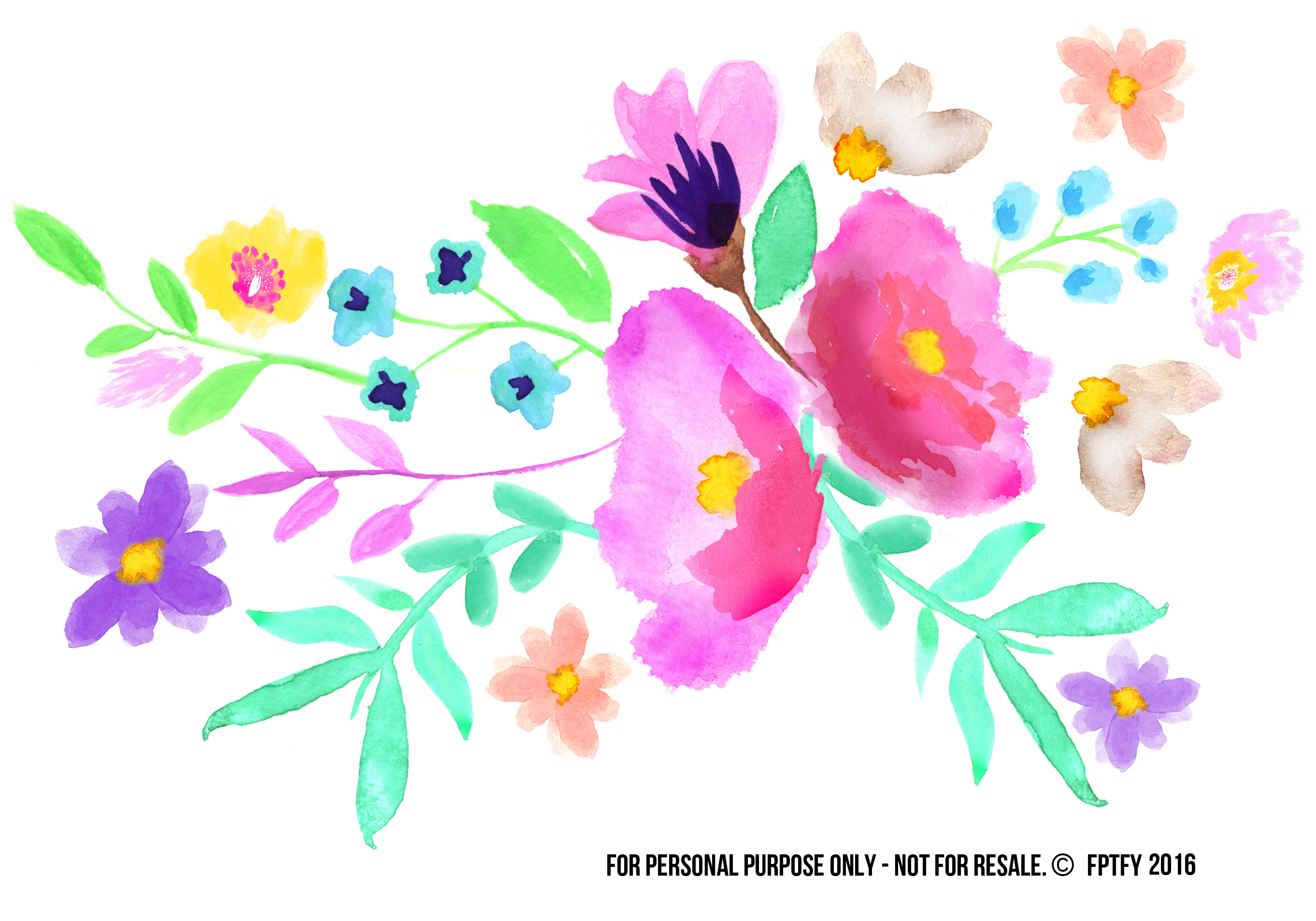 Water Color clipart flowery #9