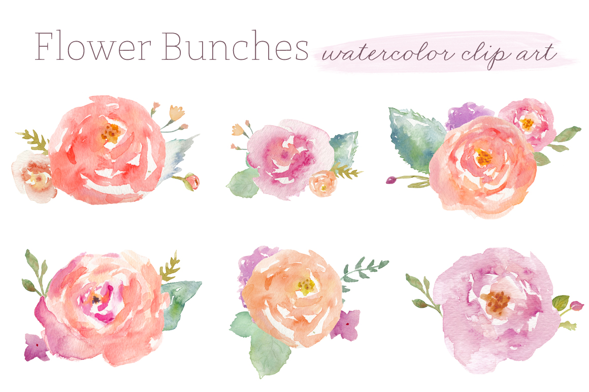 Water Color clipart flowery #5