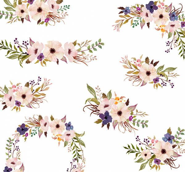 Water Color clipart flowery #10