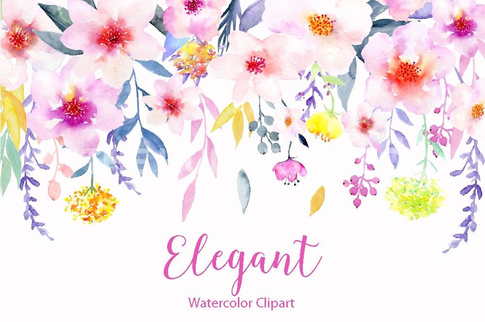 Water Color clipart flowery #13