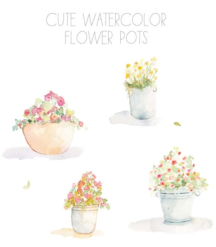 Water Color clipart flowery #11