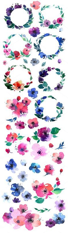 Water Color clipart love flower #14