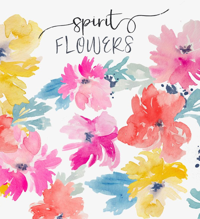 Water Color clipart love flower #13