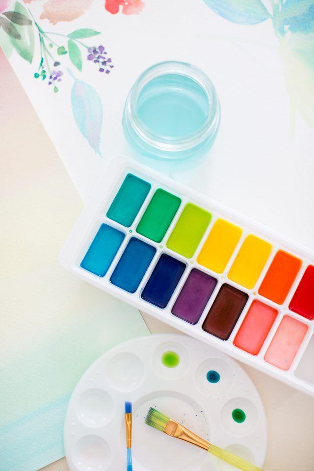 Water Color clipart paint set Watercolor set ideas Make Paint