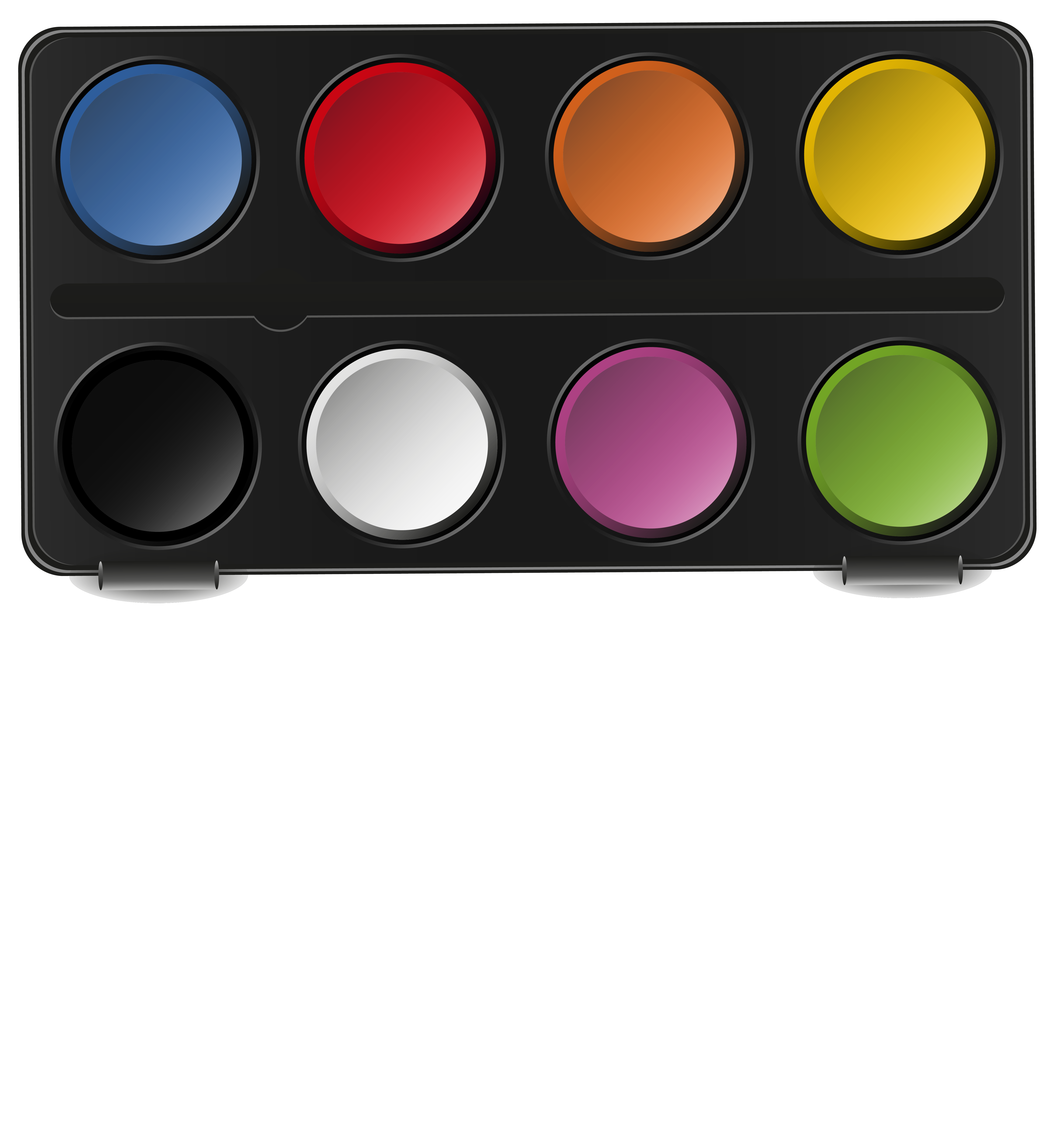 Water Color clipart paint set Watercolor Gallery  size Pan