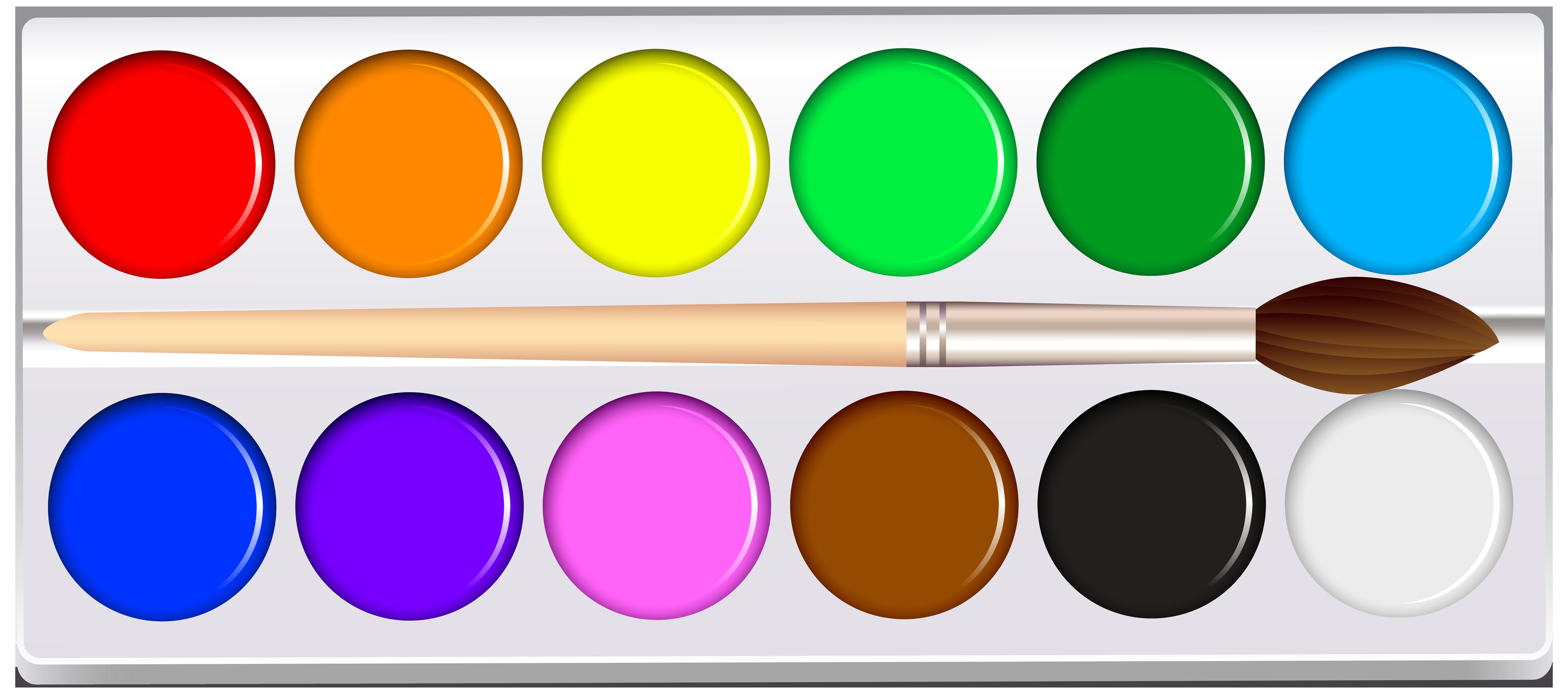 Water Color clipart paint set Clip Clip Art Set Art