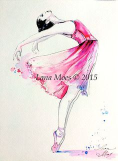 Ballerinas on Watercolor 25+ Dancer
