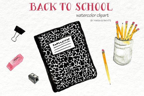 Water Color clipart school thing On Art Creative to Back